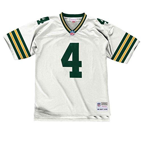 779b43769 Mitchell   Ness Brett Favre Green Bay Packers Replica Throwback NFL Trikot  Weiß M