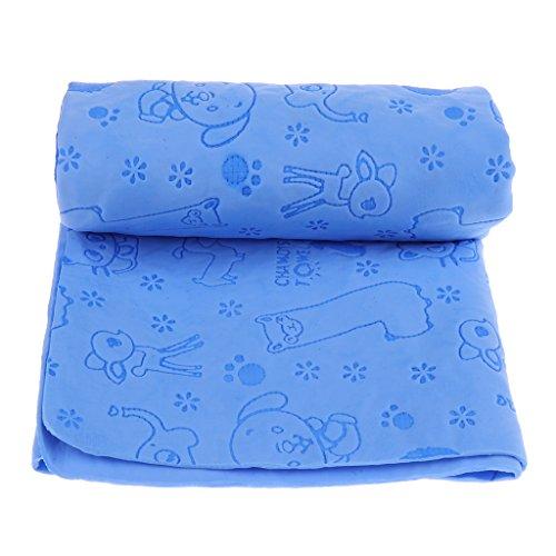 perfk Saugstarkes Handtuch Hundehandtuch Duschtuch für Hunde & Katzen, 65 x 43 cm - Blau