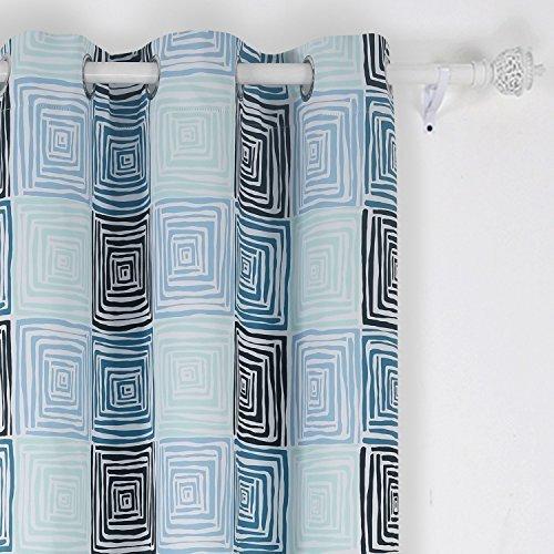 Deconovo Olive Branch Designed Pattern Curtains Blackout Thermal ...
