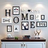 Massivholz Rahmenwand Bilderrahmen Ideen wie Box Foto rahmen Foto Wohnwand Wohnzimmer Schlafzimmer Foto schwarze und weiße Wände.