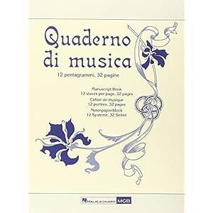 Quaderno di Musica Ricordi -Form 23,5x31,5 -32 pag