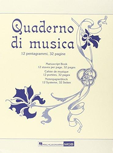 Quaderno di Musica Ricordi -Form 23,5x31,5-32 pag