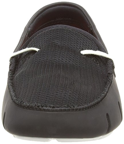 Swims Lace, Mocassins Homme Noir (black/white)