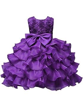 Vestito bambini Bambino Abito vestiti Ragazze Fiore Compleanno Nozze damigella d'onore Pageant Principessa Formale...