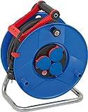 Brennenstuhl Garant IP44 Kabeltrommel (40m - Spezialkunststoff, kurzfristiger Einsatz im Außenbereich, Made In Germany) blau
