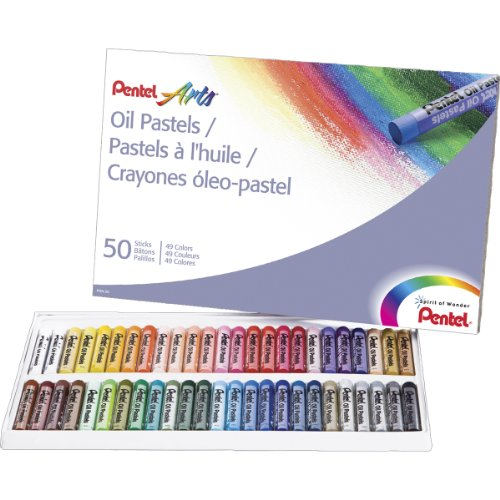 pentel-oil-pastels-50-pkg-assorted-colors