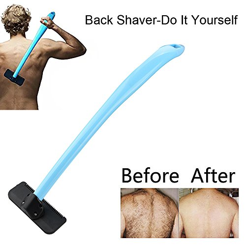 Zurück Haar Rasierer, Rückenrasierer verstellbar Langer Griff macht es viel einfacher, auch die schwierigsten mittleren und unteren Bereiche des Rückens zu erreichen