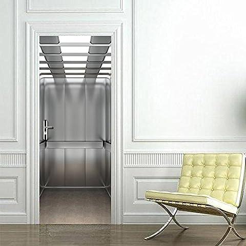 Aufzug-Tür-Aufkleber 3D Hauptdekor-wasserdichtes selbstklebendes entfernbares DIY 200 * 77cm