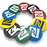 10 NFC Tags | NXP Chip NTAG215 | memoria de 504 bytes | Etiquetas Redondas |Colores mezclados | PVC duro y Pegamento 3M | alta potencia de escaneo | Mismo chip con Tagmo Amiibo.