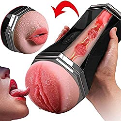 YTDJOSF Oral Automatic Cup Vibrating Sucking Massager, Pusseys eléctricos para hombres Strocker Sleeve Cup Toys con Multi Modes Tshirt