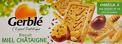 Gerblé Biscuits Miel Châtaigne 200 g - Lot de 6