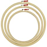 #3: AsianHobbyCrafts Wooden Embroidery Hoop Ring Frame : Size : 10