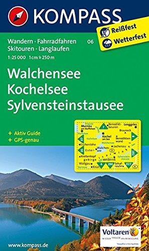 Preisvergleich Produktbild Walchensee - Kochelsee - Sylvensteinstausee: Wanderkarte mit Aktiv Guide, Radwegen, Skitouren und Loipen. GPS-genau. 1:25000 (KOMPASS-Wanderkarten, Band 6)
