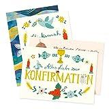 4er Set Glückwunschkarten zur Konfirmation von Aurélie Blanz und Nastja Holtfreter
