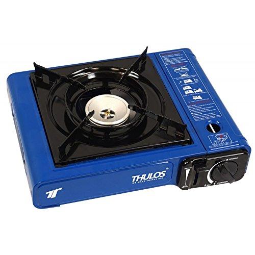 Cocina portátil a gas (botella B-250), 2.2KW. (AZUL)THULOS TH-GS008 Ideal para actividades...
