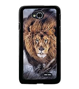 Fuson Premium 2D Back Case Cover lion With Multi Background Degined For LG L70