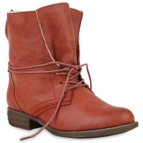 Warme Winter Stiefel (Stiefelparadies Damen Stiefeletten Schnürstiefeletten Warm Gefütterte Stiefel Glitzer Winter Boots Zipper 147854 Coral Avelar 39 Flandell)