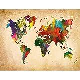 Fototapeten Weltkarte Landkarte 352 x 250 cm Vlies Wand Tapete Wohnzimmer Schlafzimmer Büro Flur Dekoration Wandbilder XXL Moderne Wanddeko - 100% MADE IN GERMANY Runa Tapeten 9015011a