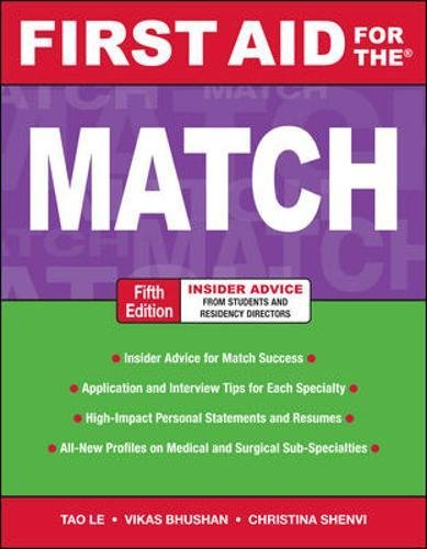 First Aid for the Match, Fifth Edition (First Aid Series)
