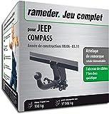 Rameder Attelage rotule démontable pour Jeep Compass + Faisceau 7 Broches...