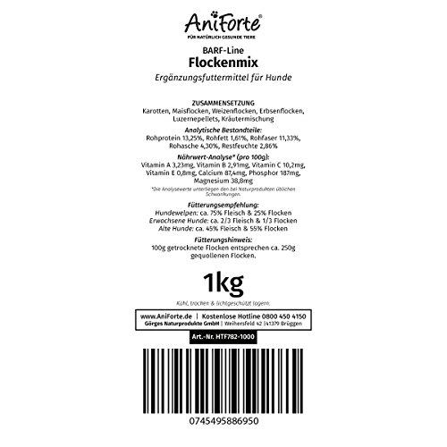 AniForte B.A.R.F. Line No10 Flockenmix 1 kg Hundeflocken Gemüse Biofutter- Naturprodukt für Hunde - 4