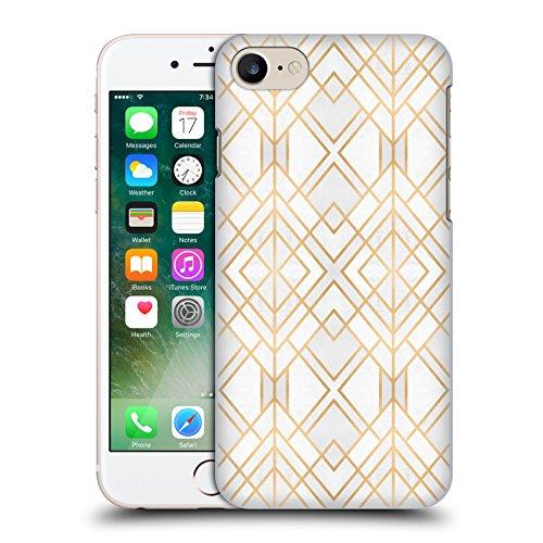 Offizielle Elisabeth Fredriksson Blaues Glas Geometrisches Designs Und Muster Ruckseite Hülle für Apple iPhone 6 / 6s Golden Geo