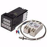 Digital Temperaturregler 110-240 V PID REX-C100 + 40 A SSR + K Thermoelement