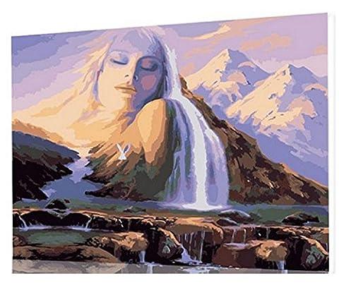 Unglaublich Surreal Gemälde schöne Frauen-DIY Anstrich DIY Ölgemälde 16x20 Zoll Frameless malen nach Zahlen Kits einzigartiges Geschenk