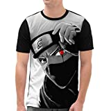 VOID Kakashi Hatake T-Shirt Herren All-Over Druck Ninja Anime Manga, Größe:M