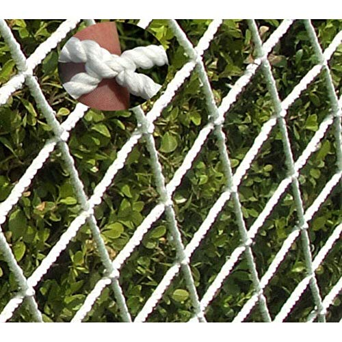 STTHOME Schutznetz Sicherheitsnetz Nylon Ladungs Seilnetz Schutznetz for Katzen, Schutznetz Sicherheitsnetz Seilnetz Balkon Schutznetz for Katzen Abnehmbarer Balkon Und Treppenschutznetz Weiß