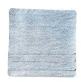 4er Set JEANSBLAU HELL Bügelflicken zum Aufbügeln aus Baumwolle 10x15cm I Für Jeans und Mehr I Jeansflicken Ausbesserungsflicken Reparatur-Flicken Reparatursatz