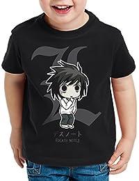 style3 L Death Note T-Shirt pour enfants cahier de la mort anime manga yagami