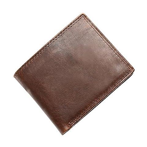 pour homme en cuir véritable avec Portefeuille chéquier JOYIR