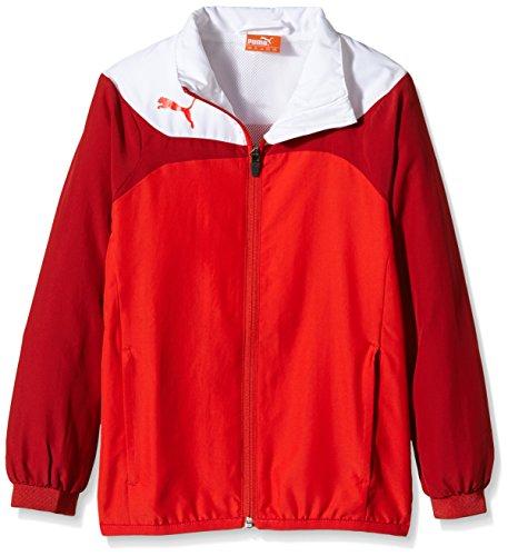 PUMA Herren Jacke Esito 3 Leisure Jacket, red-white, XXXL, 653971 01 (Anzug Herren Nylon)