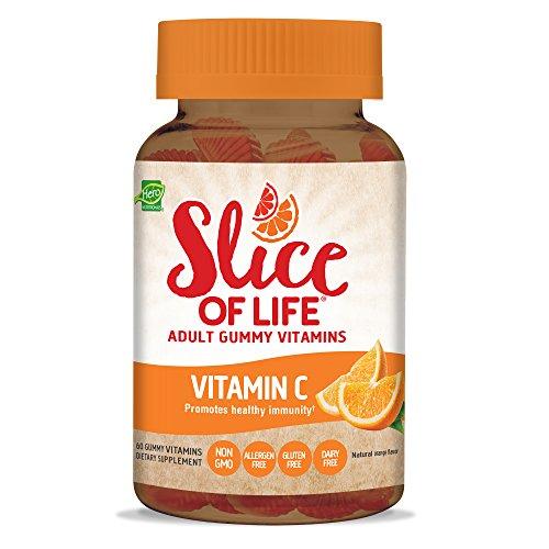 Hero Nutritional Products, Slice of Life, Vitamin C + Granatapfel, Gummy Vitamine für Erwachsene, 60 Gummy Slices (Gummy Slices)