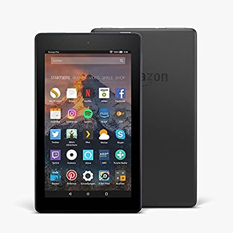 Das neue Fire 7-Tablet, 17,7 cm (7 Zoll) Display, 8 GB (Schwarz), mit Spezialangeboten