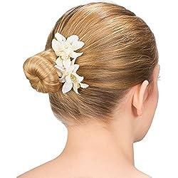"SIX ""Blumen"" Damen Haarspange, Haar Clip, Duck Clip, Haarschmuck, Blume, Blüten, Weiß (488-028)"