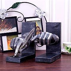 Idea Regalo - SHENCHI Fermalibri di forma di scrittura della mano Nonskid Robusto fermacarte di arte della scrivania Scrivania da regalo in resina da collezione