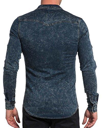 BLZ jeans - Chemise jogg jean bleu délavé fashion Bleu
