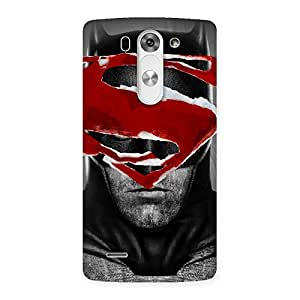 Delighted Black Red Forhead Back Case Cover for LG G3 Mini