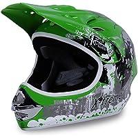 Actionbikes Motorradhelm X-treme Kinder Cross Helme Sturzhelm Schutzhelm Helm für Motorrad Kinderquad und Crossbike in grün