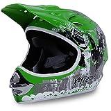 Actionbikes Motorradhelm Kinder Cross Helme Sturzhelm Schutzhelm Helm für Motorrad Kinderquad und Crossbike in grün (X-Large)