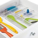 InterDesign Basic Schubladenbox, Kleiner Schubladeneinsatz aus Kunststoff, 6er-Set Aufbewahrungsbox, Durchsichtig