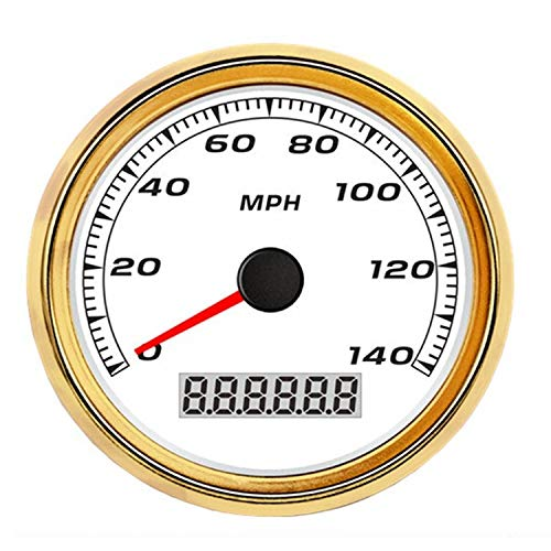 """Kfz-Instrument GPS Tachometer Kilometerzähler Meter 140MPH Für Auto Motorrad LKW 3 3/8""""12 V 24 V Mit Hintergrundbeleuchtung Intelligentes Messsystem"""