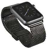 Apple Watch Edelstahl Armband Milanaise Uhrenband mit hochwertigem Adapter Uhren...