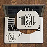 #7: GADGETS WRAP Stay Humble Hustle - Trackpad Decal for MacBook Air Pro Retina 11 12 13 14 15 inch Mac Book Touchpad Skin Laptop Sticker