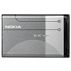 Genuine Original Nokia BL-5C Battery for 110, 1100, 1101, 1110, 1112, 1200, 1208, 1209, 1600, 1650, 1800, 2300, 2310, 2323 Classic , 6030, 6085, 6086, 6230, 6230i, 6267, 6270, 6555, 6600, 6630, 6670, 6680, 6681, 6820, 6822, 7600, 7610, C1 00, C2, C2 01, C2 02, C2 03, C2 05, E50, E60, N-Gage, N70, N71, N72, N91, X2 01