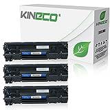3 Kineco Toner kompatibel zu HP CE285A CE285X Laserjet Pro P1100, LaserJet Pro P1102w ePrint, LaserJet Pro M1132 All-in-One - 85A - Schwarz je 2.100 Seiten