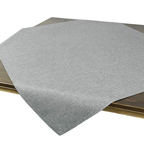 Nappe de table VIENNE gris, imperméable anti tache, pour toute l'année, carré 85x85 cm