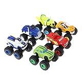 Blaze Lot de 6 voitures de course pour enfants avec jouets de Diecast Toys